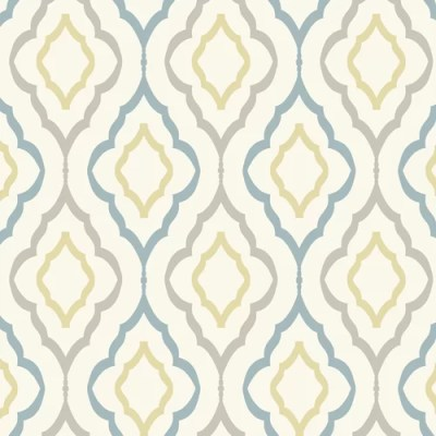 York Wallcoverings Candice Olson Inspired Elegance Diva Geometric Wallpaper & Reviews | Wayfair