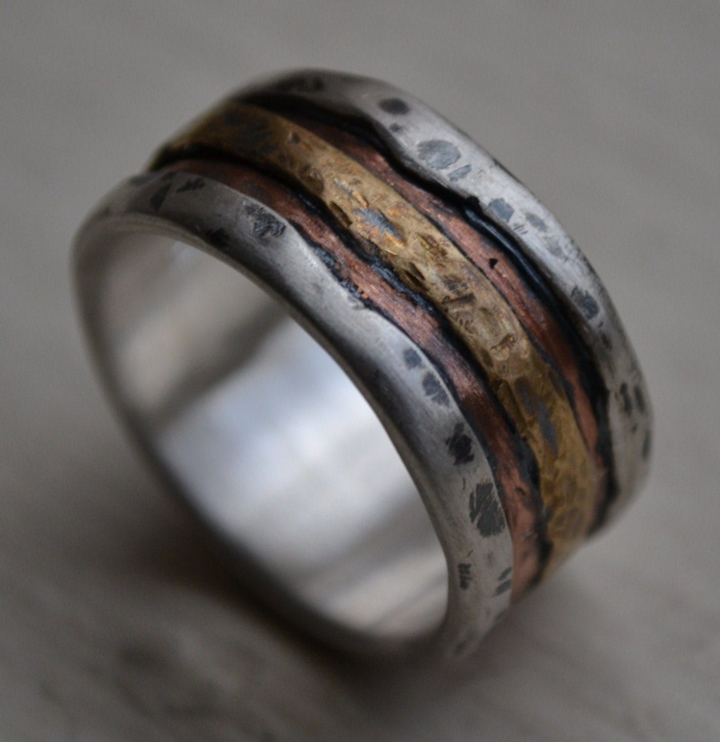 mens titanium wedding bands Hey I found this really awesome Etsy listing at https www etsy com listing rustic men ring silver copper ring mens Wedding Pinterest