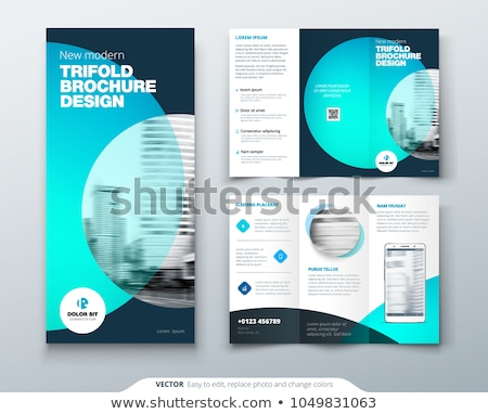 Modern Vector three fold brochure design template vector     Add to lightbox Download comp