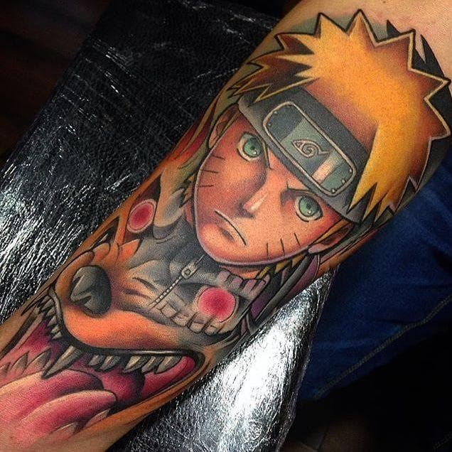 21 Amazing Naruto Tattoos That Will Blow You Away Naruto Showing His Inner Fox is listed  or ranked  3 on the list The