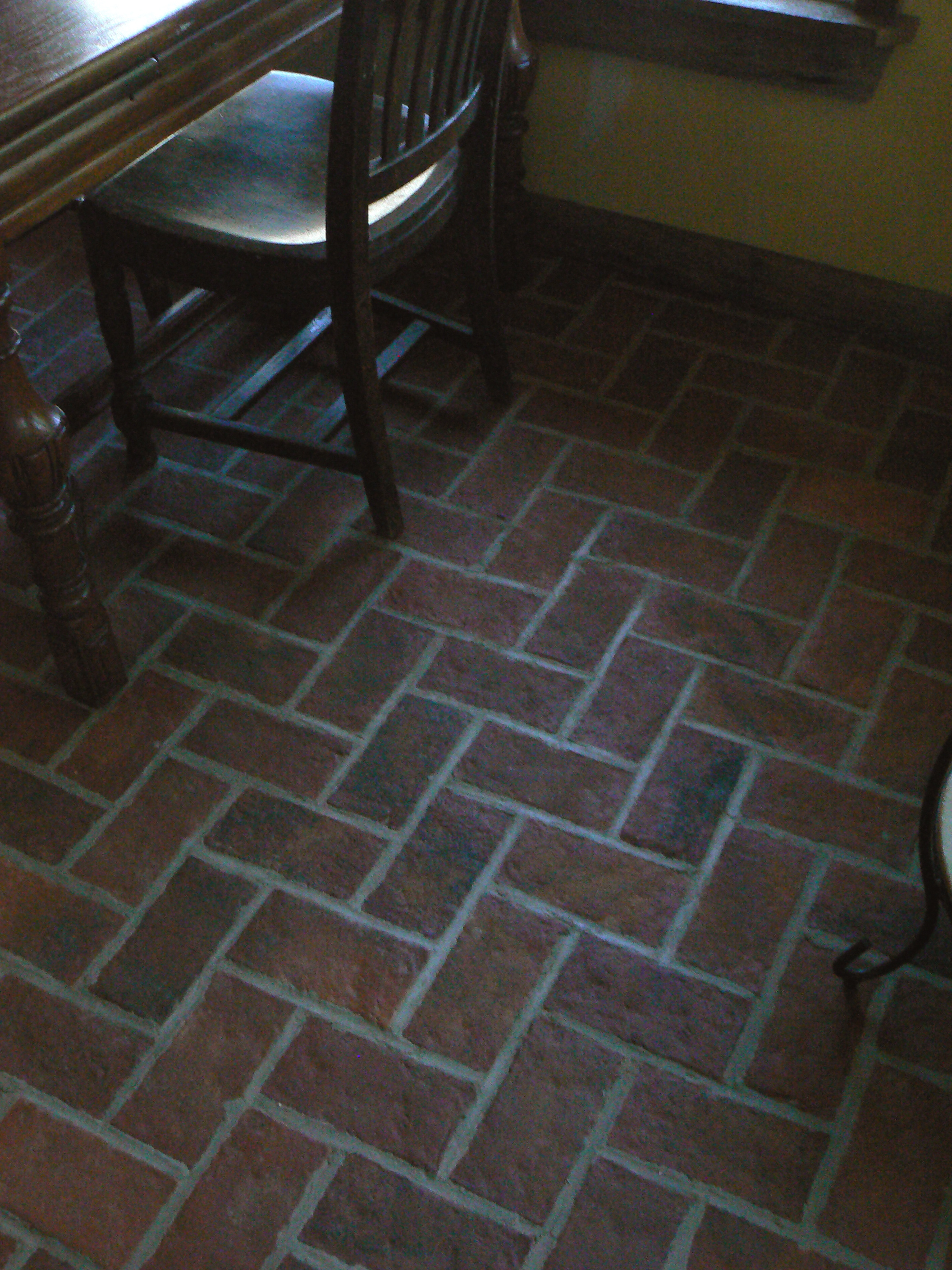 antique brick kitchen floor tile designs Inglenook brick tile kitchen floor