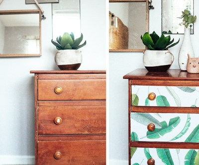 Dresser Makeover with Wallpaper | In Honor Of Design | Bloglovin'