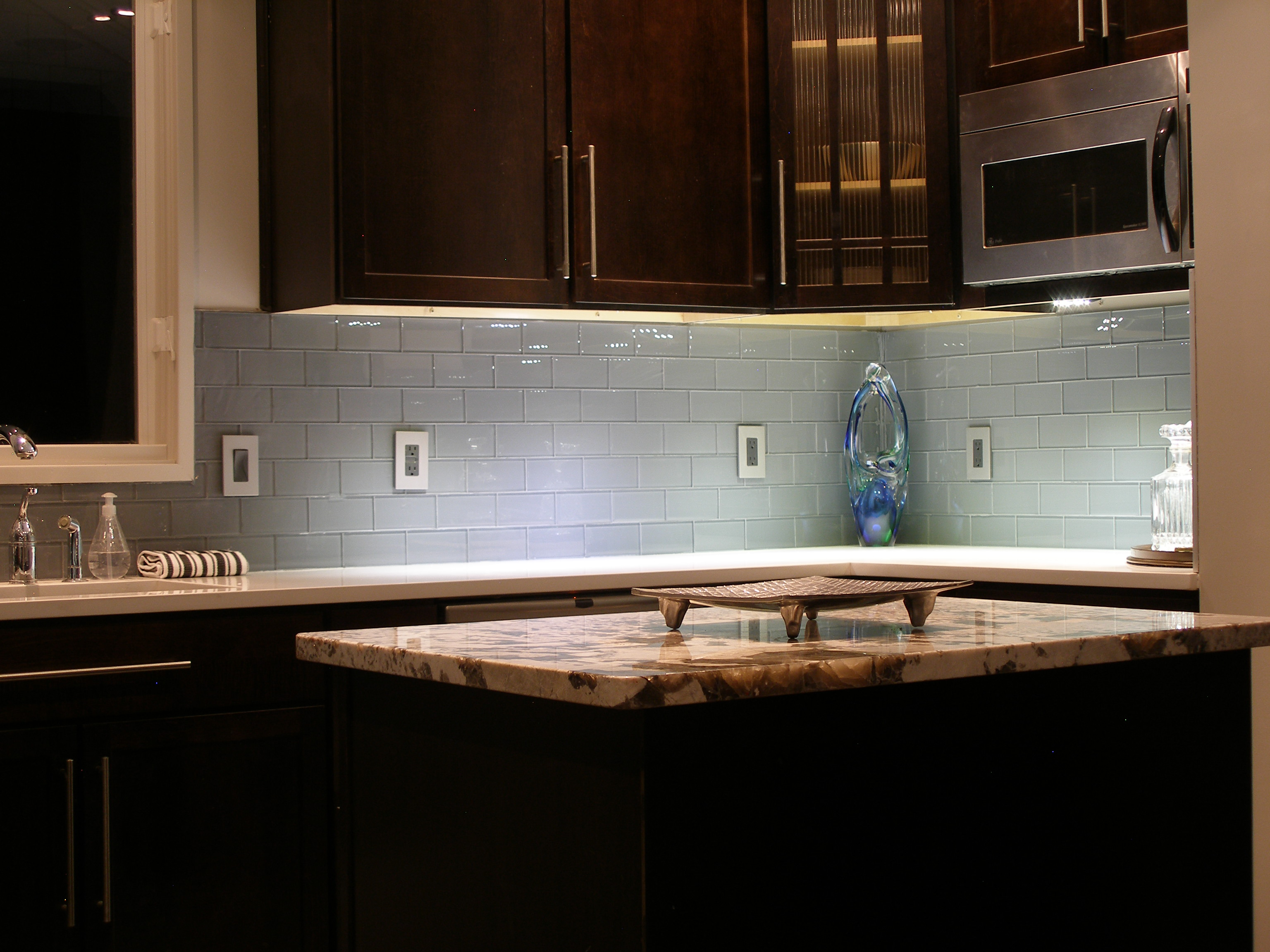 kitchen backsplash kitchen backsplash tiles Glass Tile Grey Kitchen Backsplash Design