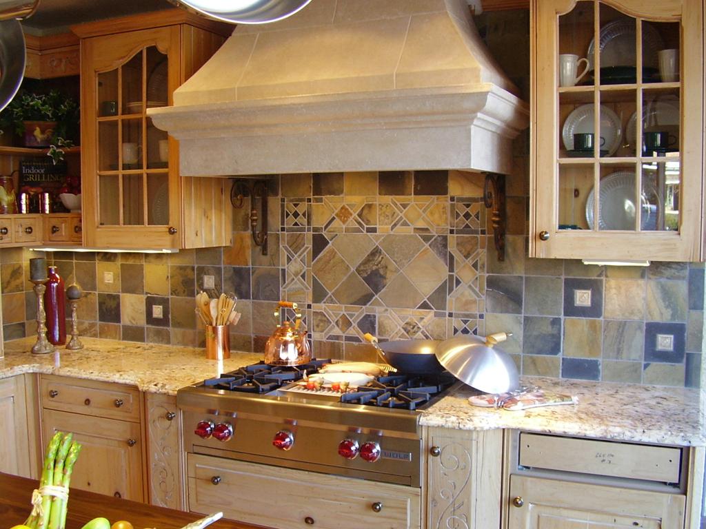 kitchen backsplash tile for kitchen backsplash Rustic Traditional Tile Kitchen Backsplash