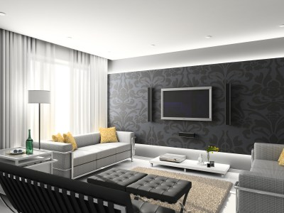 Wallpaper Design For Living Room that Can Liven Up The Room - InspirationSeek.com