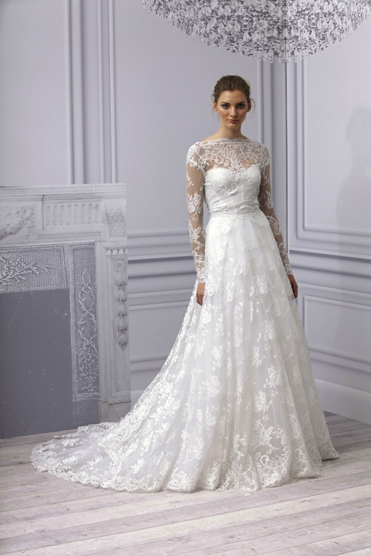 wedding trend sleeved wedding gowns sleeved wedding dress Image