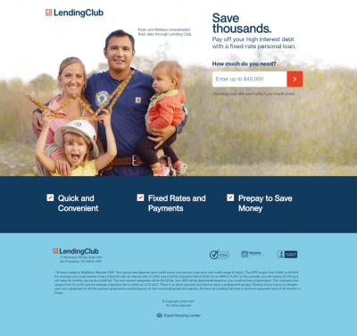 Examples of How Lending Club Is Disrupting Traditional Investing with the Help of Landing Pages