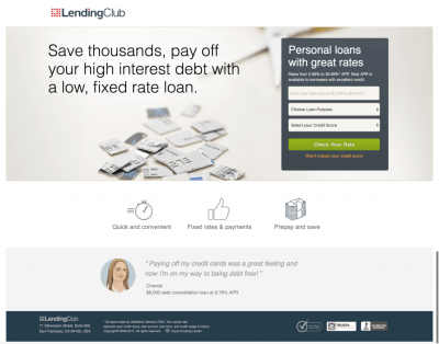 Examples of How Lending Club Is Disrupting Traditional Investing with the Help of Landing Pages