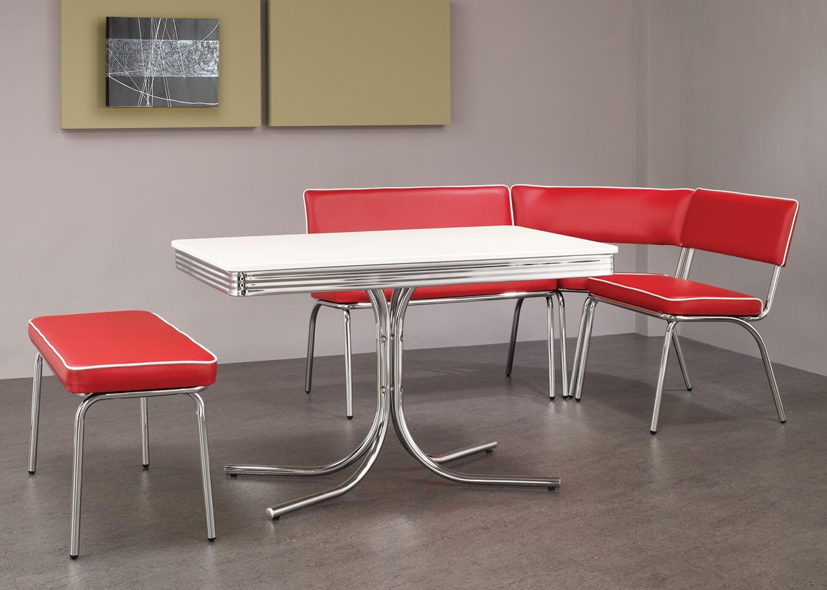red retro kitchen table chairs kitchen tables and chairs Go Beyond Traditional Decor And Think About Food As A Decorating Tool