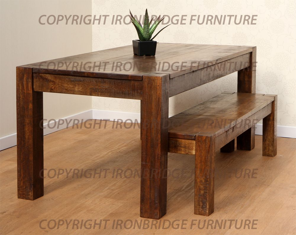 rustic dining table with bench rustic kitchen table rustic dining table with bench photo 6