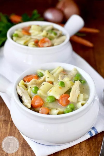 Gluten-Free Homestyle Chicken and Noodles - Iowa Girl Eats