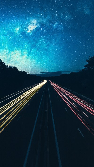Highway-Lights-Long-Exposure-iPhone-Wallpaper - iPhone ...