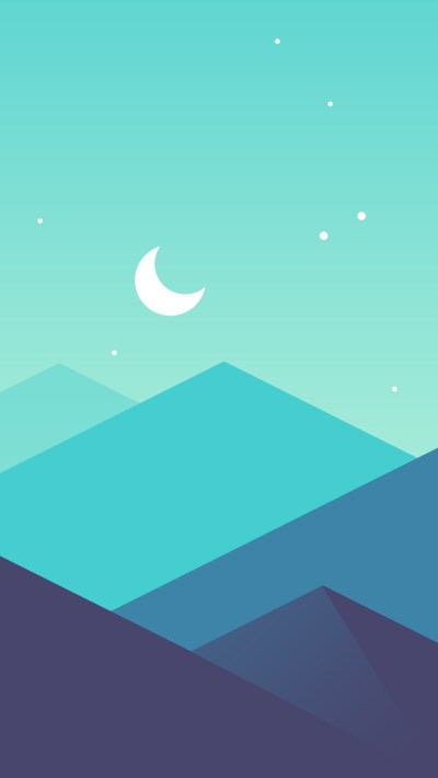 Minimal-Mountains-Moon-iPhone-Wallpaper - iPhone Wallpapers