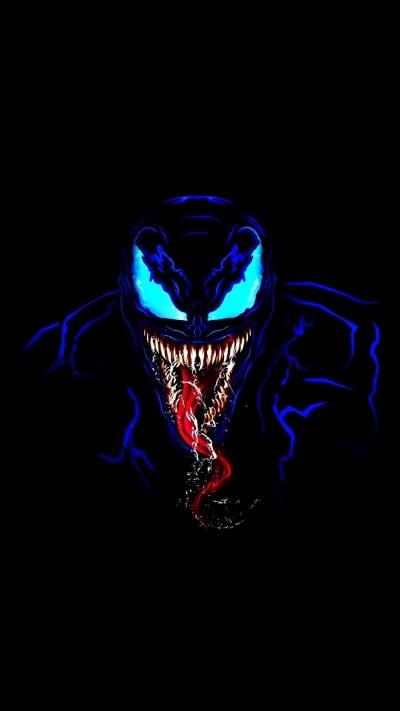 Venom in Dark iPhone Wallpaper - iPhone Wallpapers