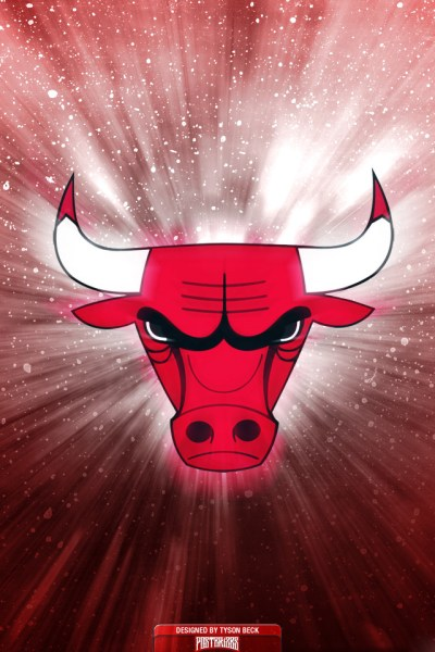 Creative Chicago Bulls Team Logo Image Picture for iPhone 4 Wallpapers HD