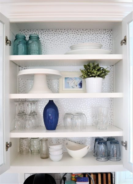 How to Add Wallpaper to Kitchen Cabinets | DIYIdeaCenter.com