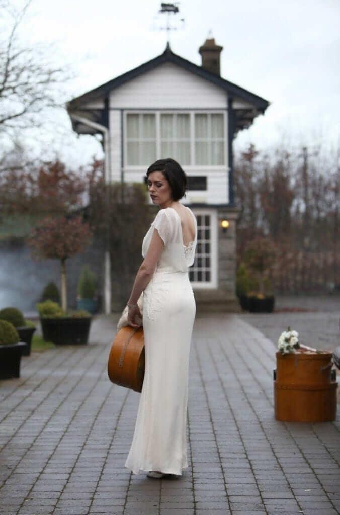 s inspired wedding irish wedding dress s Style Wedding Dress