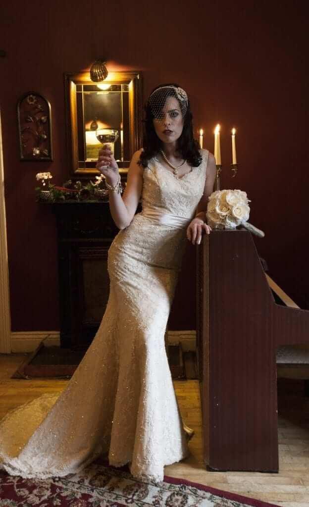 s inspired wedding s wedding dress s Glamour Wedding Dress