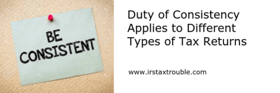 Duty of Consistency Applies to Different Types of Tax Returns - Houston Tax Attorneys: Kreig ...