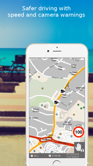 MapFactor GPS Navigation Maps on the App Store iPhone Screenshots