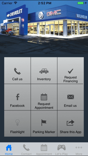 WILHELM CHEVROLET BUICK GMC on the App Store Screenshots