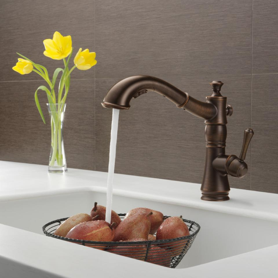 elegant chrome lux delta kitchen faucets pull down with sprayer delta kitchen faucets You can also purchase some delta kitchen faucet parts if only a part that is broken The stainless steel is also easy to clean up so you can maintain your
