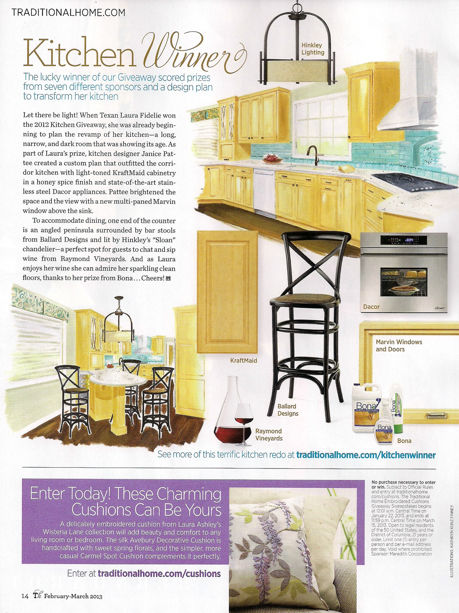 profile kitchen and bath design Traditional Home Magazine Kitchen Winner