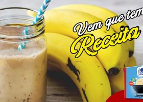 Milk-shake de banana e sorvete de creme para repor as energias