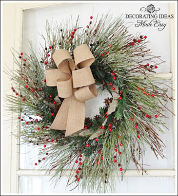 Christmas Wreath Decorating Ideas Christmas wreath decorating ideas from Jennifer Decorates com