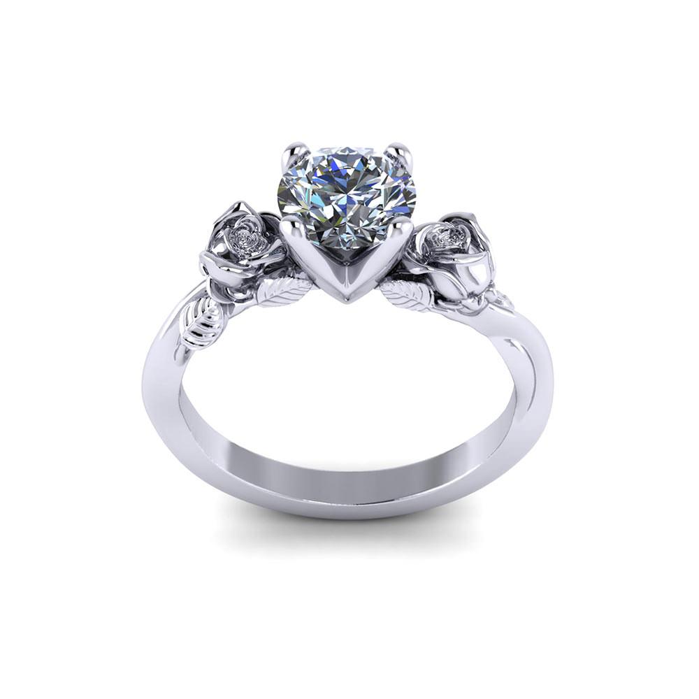 er 1 delicate rose engagement ring rose wedding ring Delicate Rose Engagement Ring