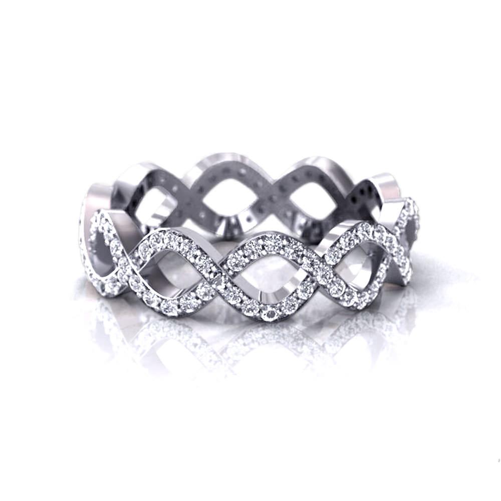 infinity wedding rings infinity diamond wedding band infinity wedding rings IWRLP 2