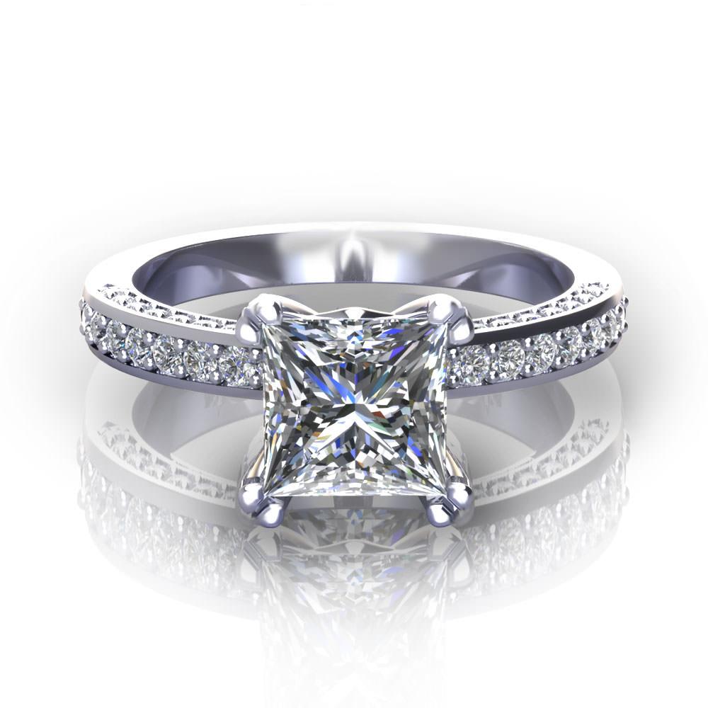 princess cut engagement rings princess cut wedding rings princess cut engagement rings PCERLP 2