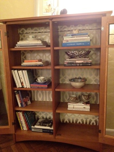 Lining Bookshelves: Decorating Inside the Box | Jewels at Home