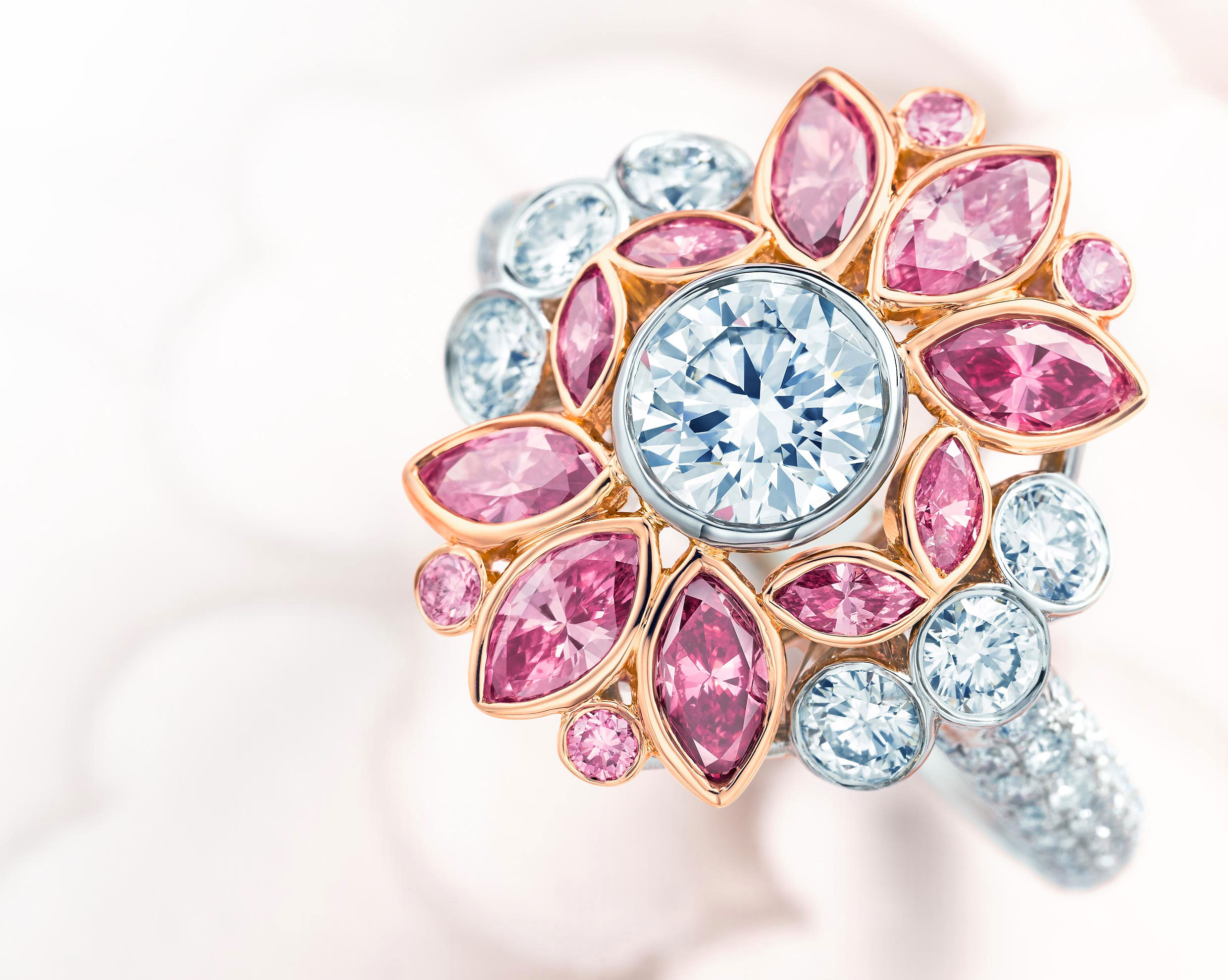 pink diamond floral ring pink diamond wedding rings Tiffany s Co Pink Diamond Floral Ring