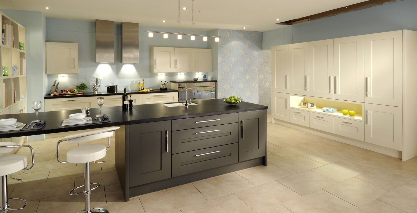 beige kitchen wall and cabinets in ultramodern kitchen decor beige kitchen wall