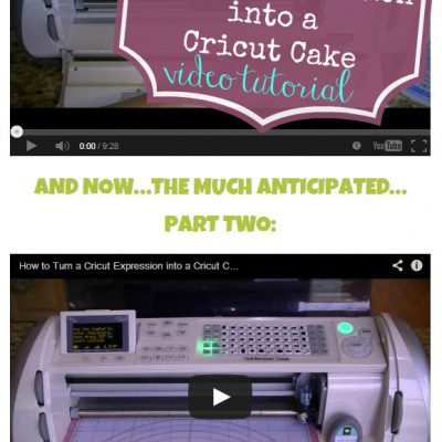 How to Turn A Cricut Expression into a Cricut Cake Video