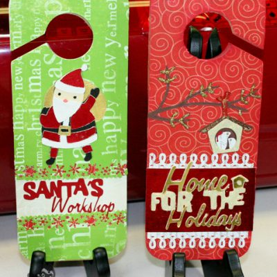 Cricut Holiday Door Hangers 12 Days of Christmas DAY NINE GIVE AWAY