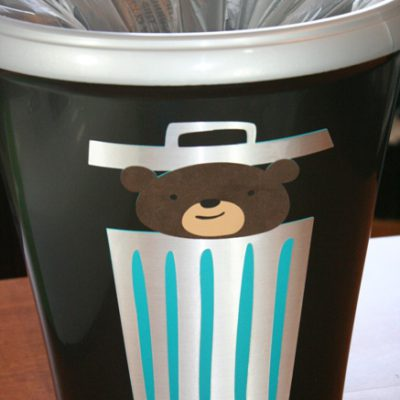 Cricut Expression 2 Vinyl Garbage Can Project Part 1