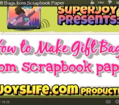 How to Make Bags from Scrapbook Paper VIDEO