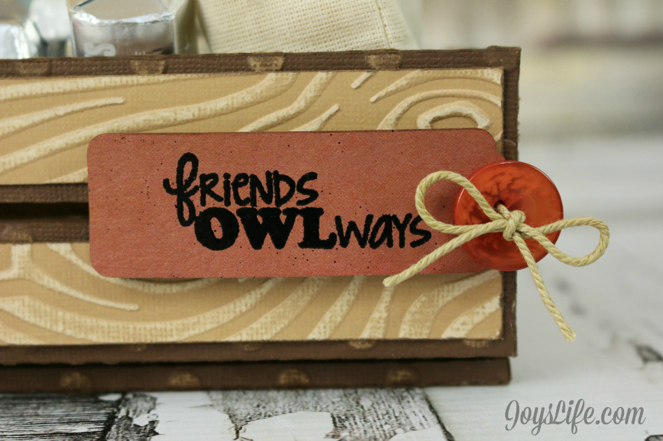 Friends Owlways Faux Wood Crate #Coredinations #JoysLifeStamps #SilhouetteCameo #LoriWhitlock