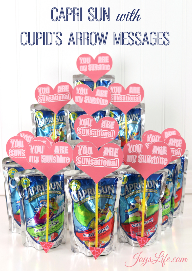 Valentine's Day Party Ideas Capri Sun Cupid's Arrow Messages #CapriSunParties #Ad #SilhouetteCameo #ValentinesDay