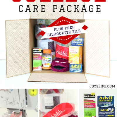 Make a Take Care of Yourself College Care Package + Free Silhouette Sleep Mask File