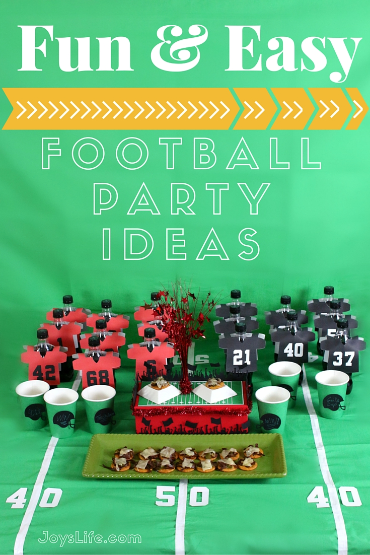 Fun Easy Football Party Ideas Joy 39 S Life