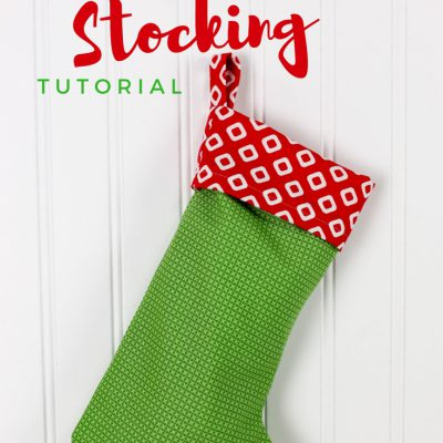 Easy Christmas Stocking Tutorial
