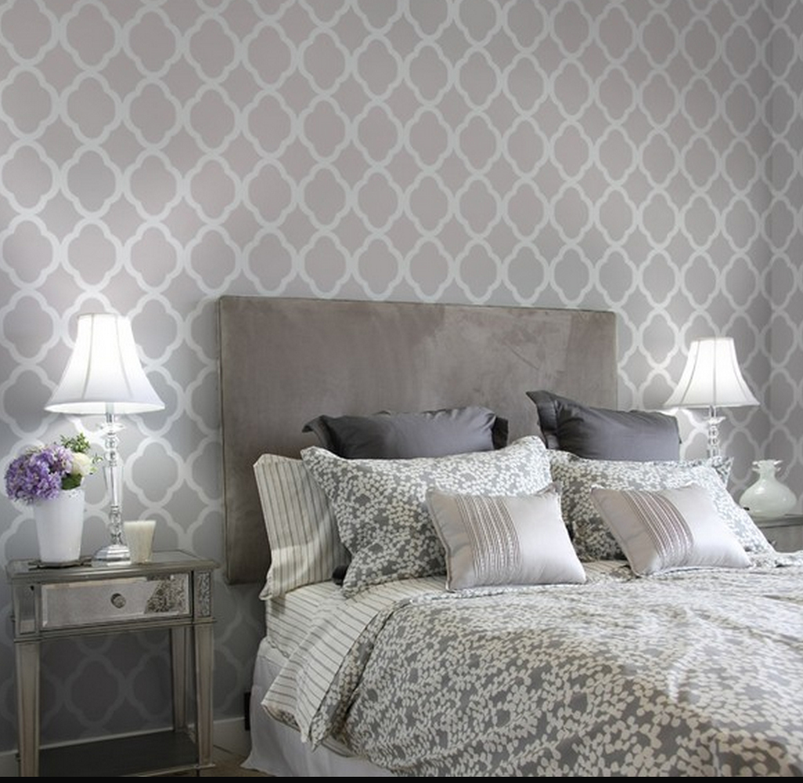 grey on gray bedroom decor | just decorate!