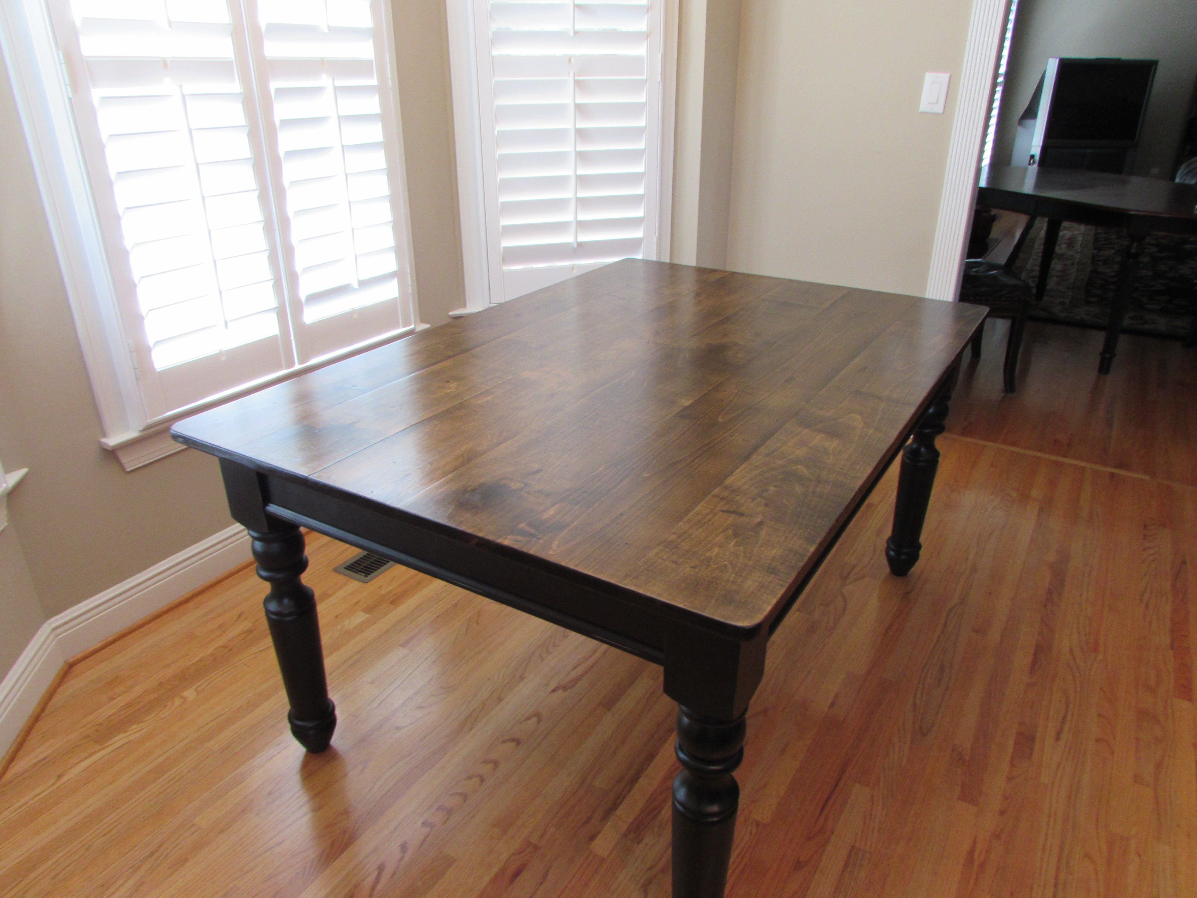 p refinishing kitchen table CUSTOM FARM KITCHEN TABLE 42