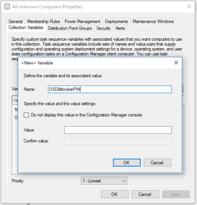 Automatically enable BitLocker and set a PIN during an SCCM Task Sequence – Kevin's tech blog
