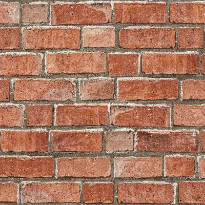 Colours Red Brick Effect Wallpaper | Departments | DIY at B&Q