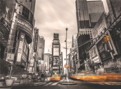 New York Taxi Wallpaper Mural | Departments | DIY at B&Q