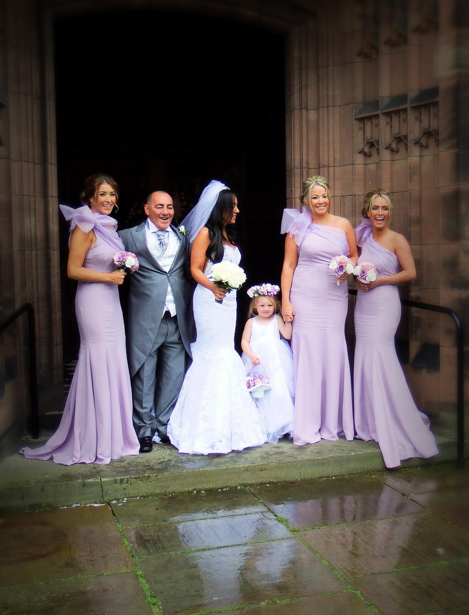 kirsty doyle bespoke bridesmaids lilac wedding dress Claire Bassnett s Bespoke Bridesmaids
